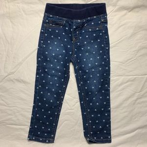 Jeans, jeggings With hearts